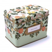 Citrus Floral Recipe Box, Rifle