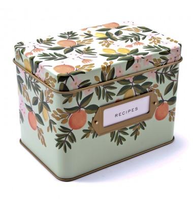 Citrus Floral Recipe Box, Rifle