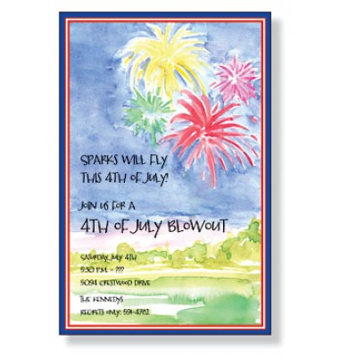 4th Of July Invitations, Fireworks, Inviting Company