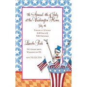 Patriotic Invitations, Aunt Sam, Bella Ink