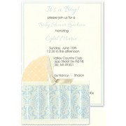 Baby Shower Invitations, Blue Bassinet, Anna Griffin