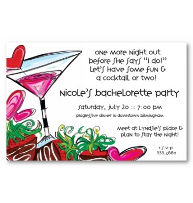 Bachelorette Party Invitations, Ladies Night Out