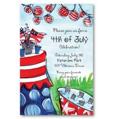 4th Of July Invitations, Lets Celebrate