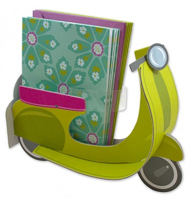 Boxed Notecards, Green Scooter, Anna Griffin
