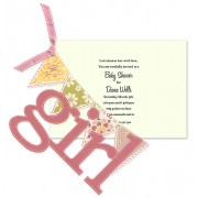 Baby Shower Invitations, Its a Girl Banner