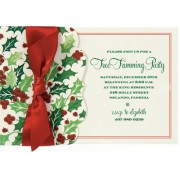 Christmas Invitations, Twinkle Bright Holly Pocket, Anna Griffin