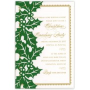 Christmas Invitations, Holly Glitter Pocket, Anna Griffin