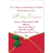 Christmas Invitations, Red Envelope Pocket, Anna Griffin