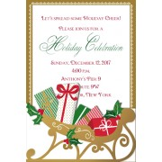 Christmas Invitations, Sleigh Pocket, Anna Griffin