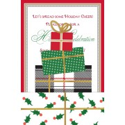 Christmas Invitations, Stacked Gift Pocket, Anna Griffin