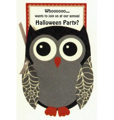 Halloween Invitations, Owl, Anna Griffin