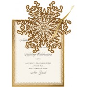 Christmas Invitations, Gold Snowflake Die Cut, Anna Griffin