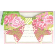 Party Invitations, Pink And Green Bow