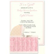 Baby shower Invitations, Pink Bassinet, Anna Griffin