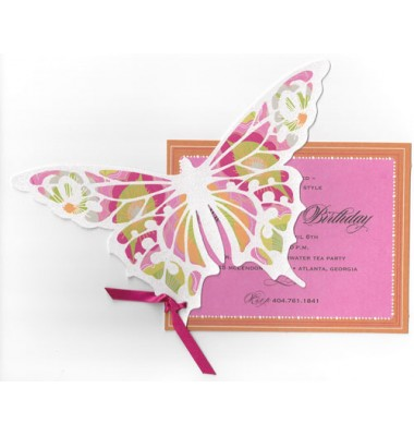 Butterfly Invitations, Pink Butterfly