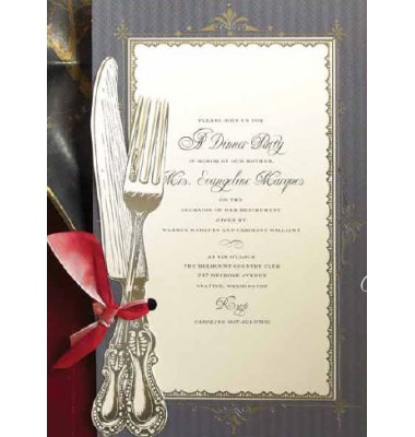 Rehearsal Dinner Invitations, Knife And Fork, Anna Griffin