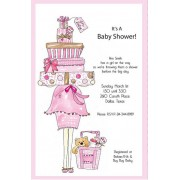 Baby Shower Invitations, Stack Of Gifts Pink, Rosanne Beck