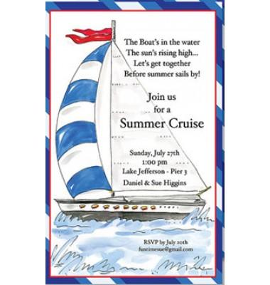 Nautical Invitations, Sail Away, Beck