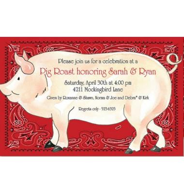 BBQ Invitations, Pig Roast, Rosanne Beck
