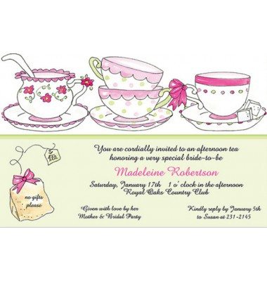 Tea Party Invitations, Tea Time, Rosanne Beck