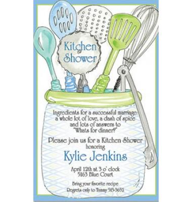 Kitchen Shower Invitations, Kitchen utensils by Rosanne Beck
