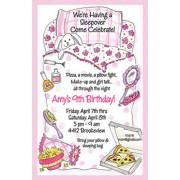 Sleepover Invitations, Pink Sleeping Bag, Rosanne Beck