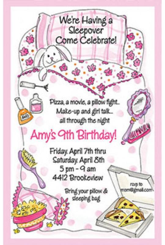 Party Invitations Theme Party Invitations Sleepover