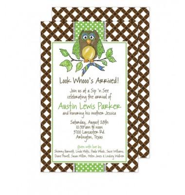 Owl Invitations, Ali Owl, Beck