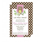 Owl Invitations, Ali Owl Pink, Beck