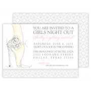 Bachelorette Invitations, Girls Night Out by Rosanne Beck