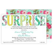 Surprise Party Invitations, Floral Surprise, Rosanne Beck