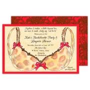 Lingerie Invitations, Leopard Bra, Rosanne Beck