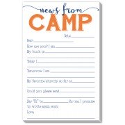 Camp Stationery, Notes From Camp Fill In Orange, Rosanne Beck
