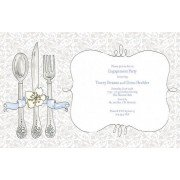 Brunch Invitations, Place Setting, Rosanne Beck