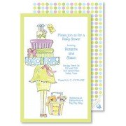 Baby Shower Invitations, Stack Of Gifts Green, Rosanne Beck