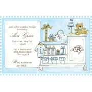 Baby Shower Invitations, Baby Room Blue, Rosanne Beck