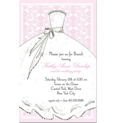 Bridal Shower Invitations, Wedding Gown, Rosanne Beck