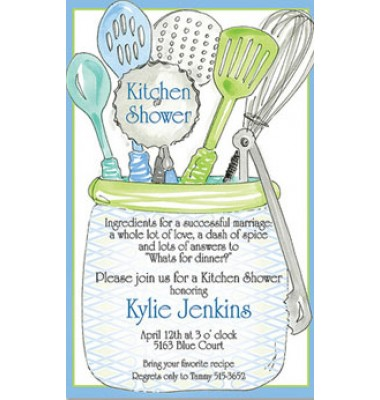 Kitchen Shower Invitations, Kitchen utensils by Rosanne Beck