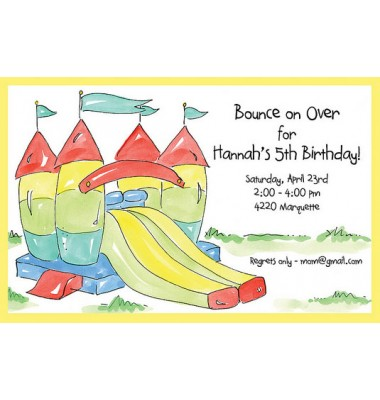 Bounce House Invitations, Lets Play, Rosanne Beck