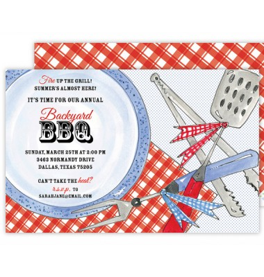 BBQ Invitations, On The Grill, Beck