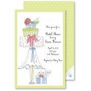 Bridal Shower Invitations, Gift Stack, Rosanne Beck