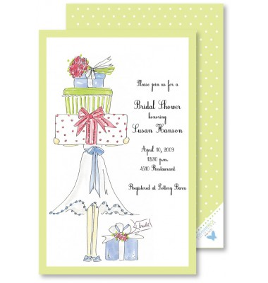 Bridal Shower Invitations, Gift Stack, Rosanne Beck