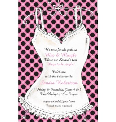 Lingerie Invitations, Sexy Dots, Inviting Company