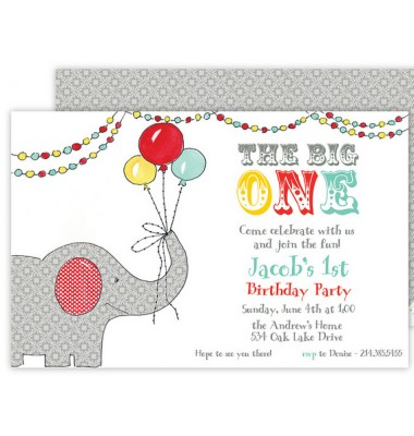 Birthday Invitations, Big Top, Rosanne Beck