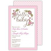 Baby Shower Invitations, Hello Baby Pink, Beck