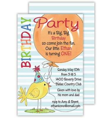 Birthday Invitations, Birthday Balloons, Rosanne Beck