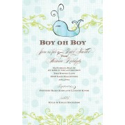 Baby Shower Invitations, Blue Whale, Bella Ink