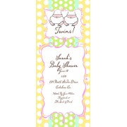 Twin Baby Shower Invitations, The Twins, Bella Ink