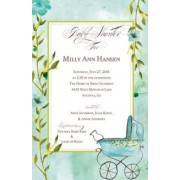 Baby Shower Invitations, Buggy Blue, Bella Ink