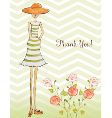 Baby Shower Thank You Cards, Preggers, Bella Ink